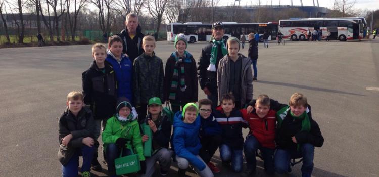 E-Jugend beim Werder Bremen Spiel
