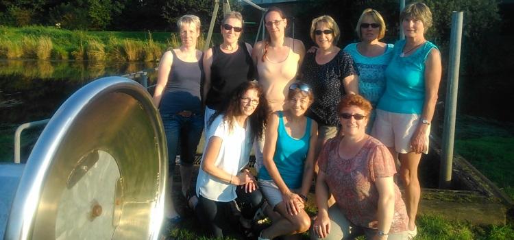 Radtour der Frauen-Fitness-Gruppe
