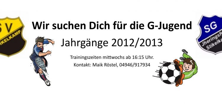 Wir suchen Dich für die G-Jugend
